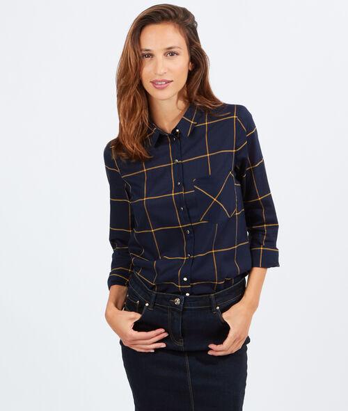 Chemise à larges carreaux