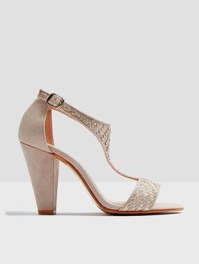 Sandales à talons blush.