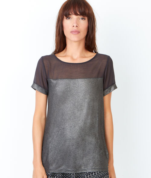 Short sleeve t-shirt, iridescent aspect