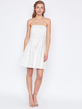 Structured dress white.