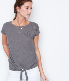 Short sleeves top khaki.