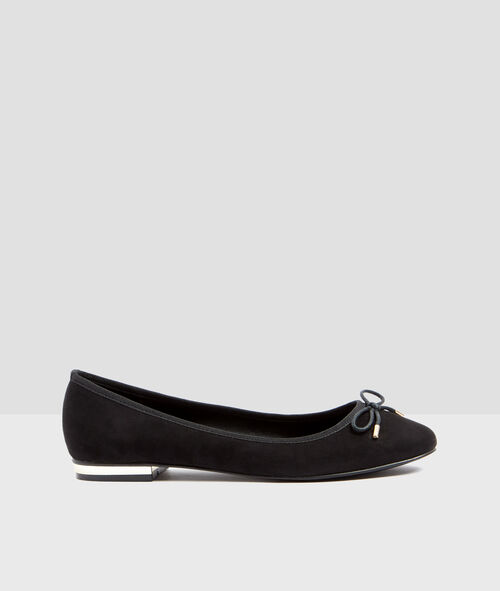 Ballet flats with metallic detail