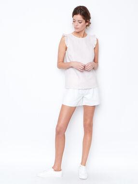 Linen shorts white.