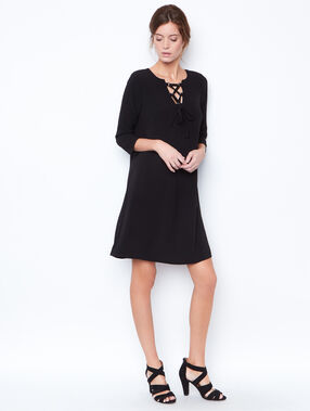 3/4 sleeves dress black.