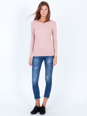 Slash neck jumper light pink.