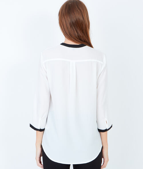 Two-tone blouse