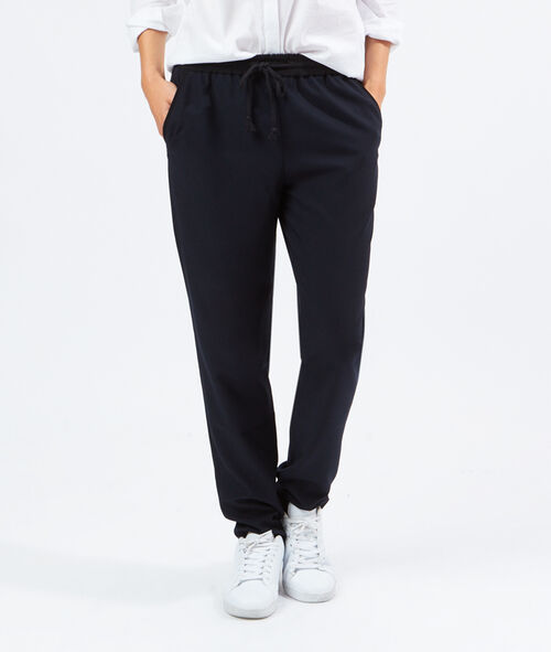 Pantalon carotte style jogging