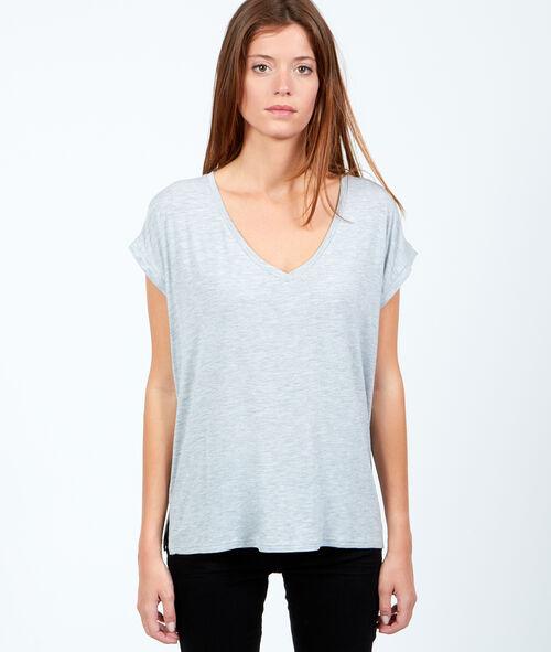 Camiseta holgada escote en V
