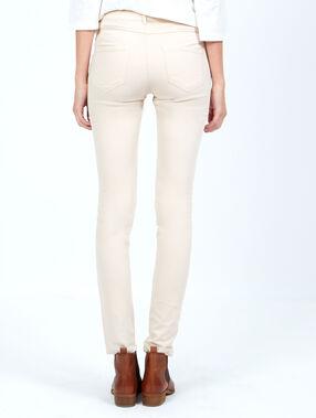 Pantalon skinny beige.