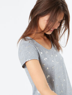 Printed t-shirt grey.