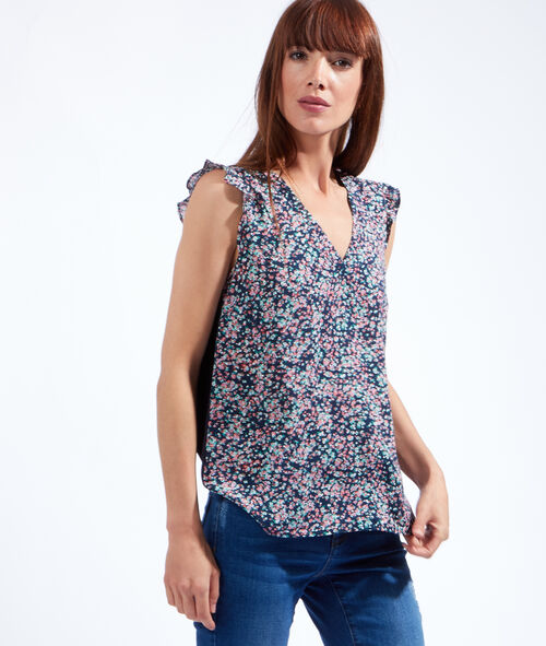 Ruffle floral print top