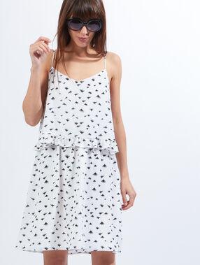 Kleid weiß.