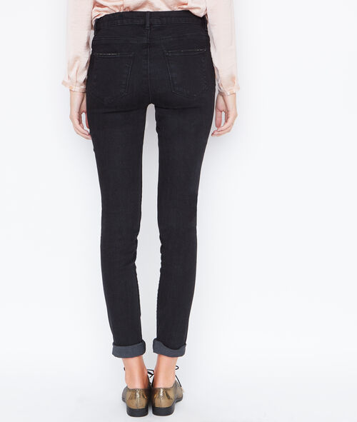 Slim jeans with crystal details