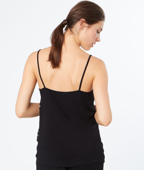 Tank-top with lace details