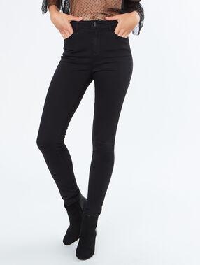 Pantalon taille haute noir.