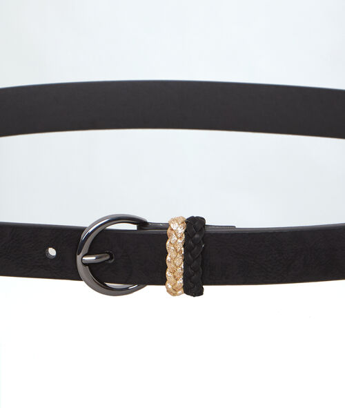 Belt with woven belt loops