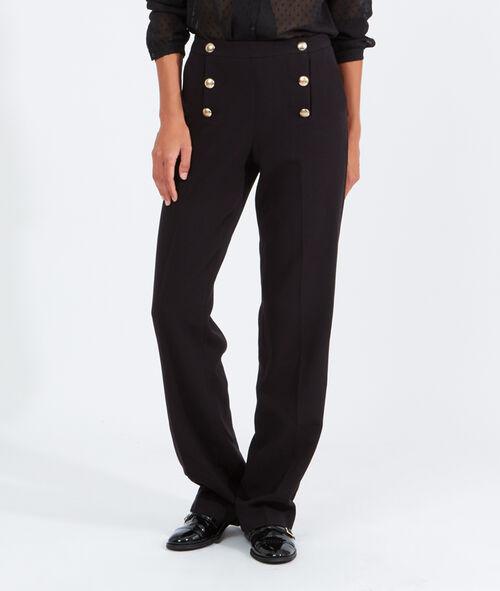 Pantalon large double boutonnage