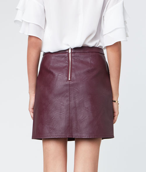 Mini skirt leather effect
