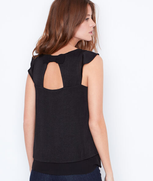 Top with bow back detail