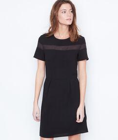 Vestido dos texturas negro.