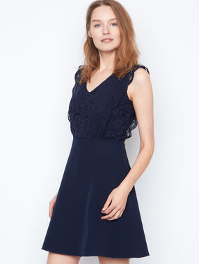 Lace dress navy.