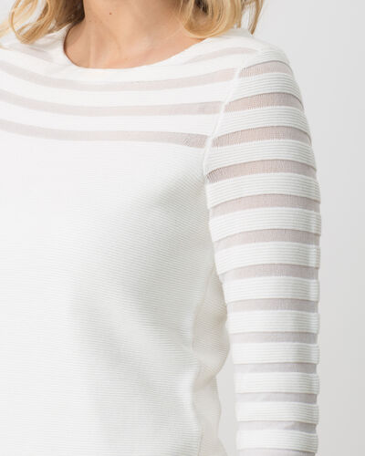 Pull blanc ajouré Hypnose (1) - 1-2-3