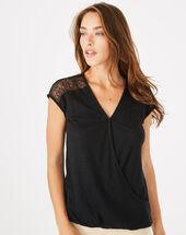 Tee-shirt noir en lin noha noir.