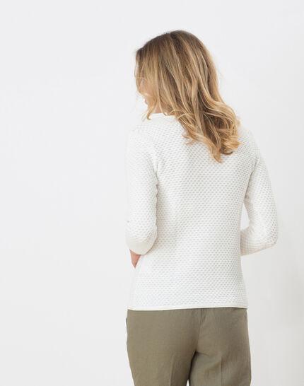 Heidi white sweater with stunning stitchwork (4) - 1-2-3