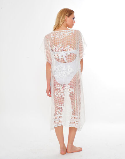 Sophie short white lace kaftan for the beach (4) - 1-2-3