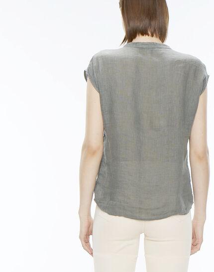 Fiona khaki linen shirt (4) - 1-2-3