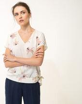 Edgée pale pink printed blouse light pink.