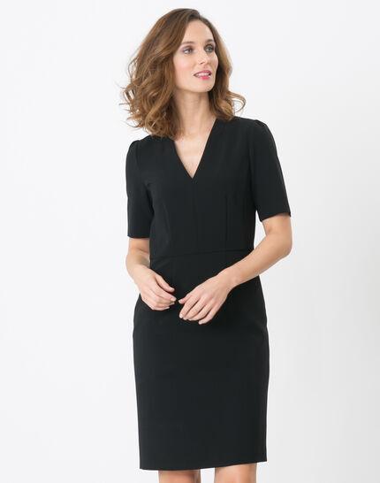 Bilbao black straight-cut dress PhotoZ | 1-2-3