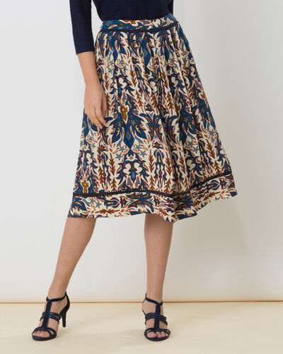 Dorée blue printed skirt (2) - 1-2-3