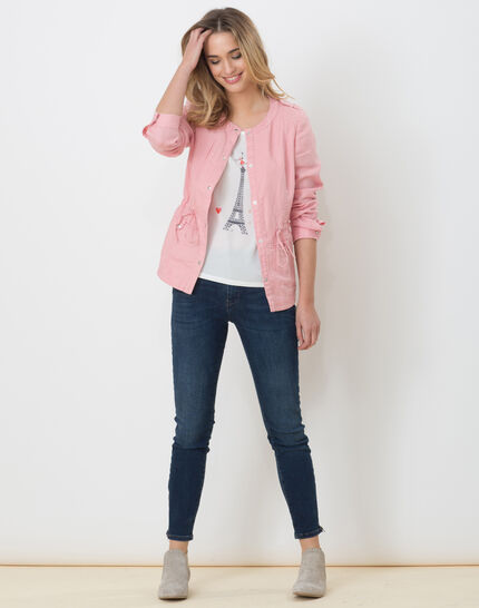 Umbria pink linen jacket (2) - 1-2-3