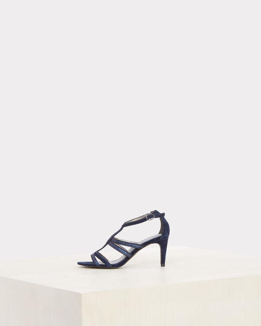 Jennie open-toed navy blue pumps (2) - 1-2-3