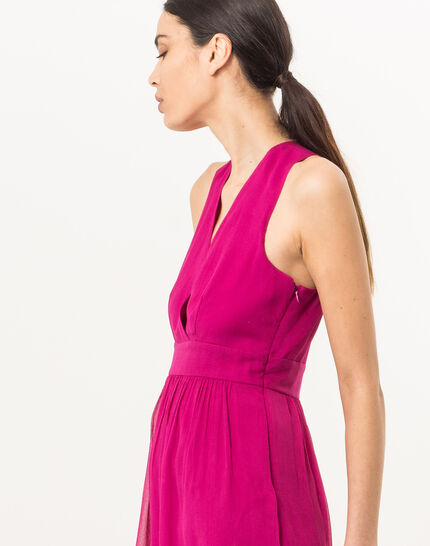 Florane pink silk dress with jewelled back (3) - 1-2-3