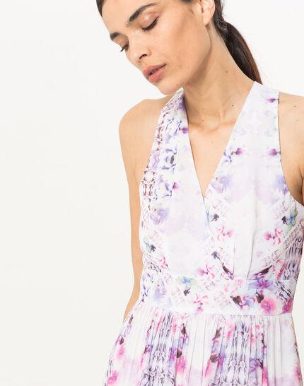 Robe imprimée lilas Florane (5) - 1-2-3