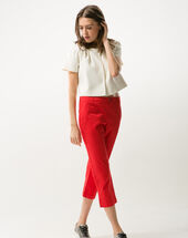 Filibert red cropped trousers red.