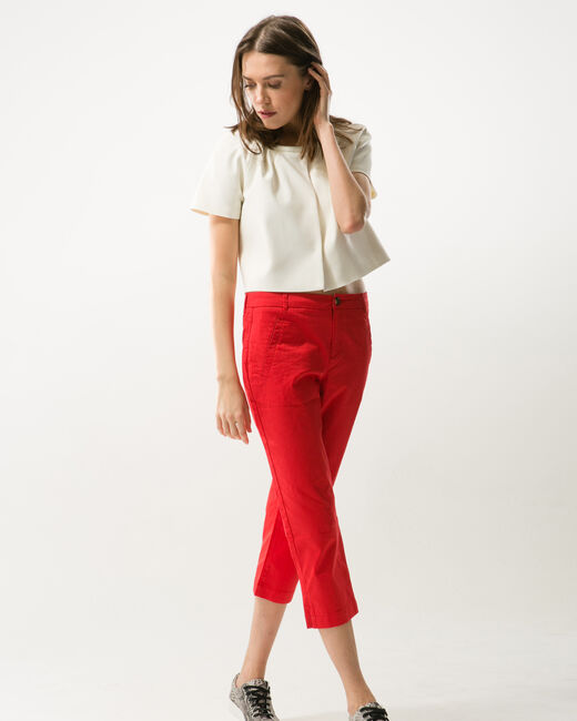Filibert red cropped trousers (1) - 1-2-3