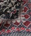 Servane indigo printed scarf PhotoZ | 1-2-3