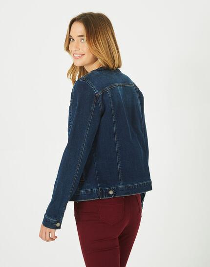 Veste en jean col tressé Uma (4) - 1-2-3