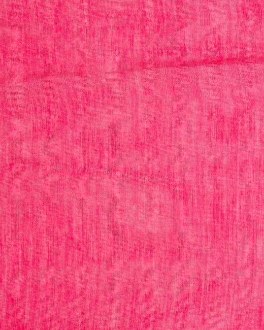 Etole framboise en soie Maeva (1) - 1-2-3