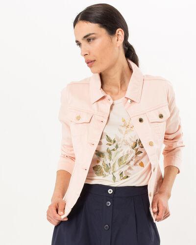 Karl pale pink denim jacket (1) - 1-2-3