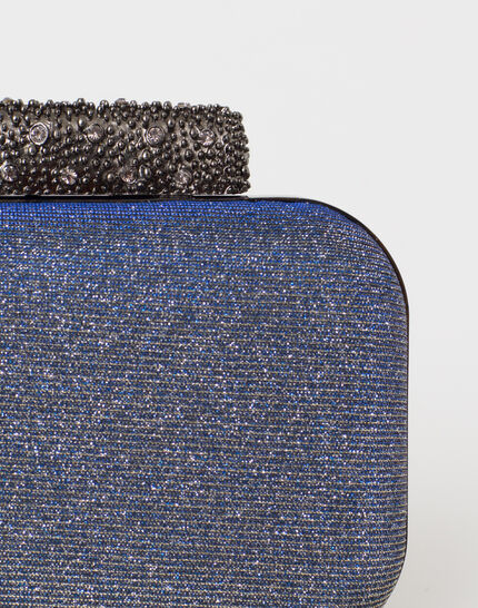 Patrizia blue glittery clutch bag (3) - 1-2-3