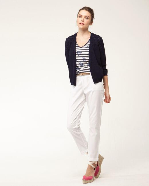 Pantalon 7/8ème blanc Francis (1) - 1-2-3