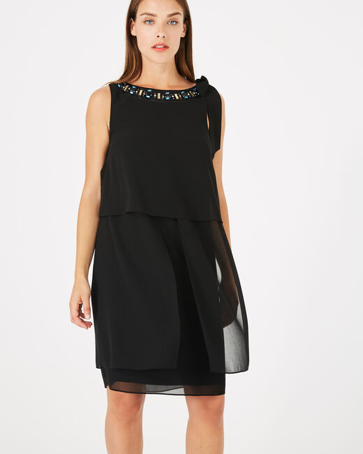 Glory black dress with cabochon neckline (1) - 1-2-3