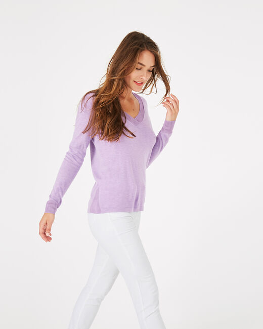 Pépite grey-blue V-neck sweater (2) - 1-2-3