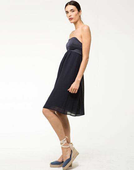 Fabiola navy blue bustier dress (2) - 1-2-3