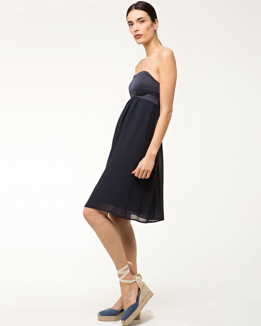 Fabiola navy blue bustier dress (1) - 1-2-3