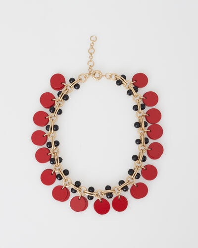 Wanda red and black beaded necklace (1) - 1-2-3